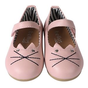 74fed7122d4b Girls Cat Mary Jane Casual Slip On Ballerina Flats